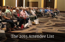 The 2015 Attendee List